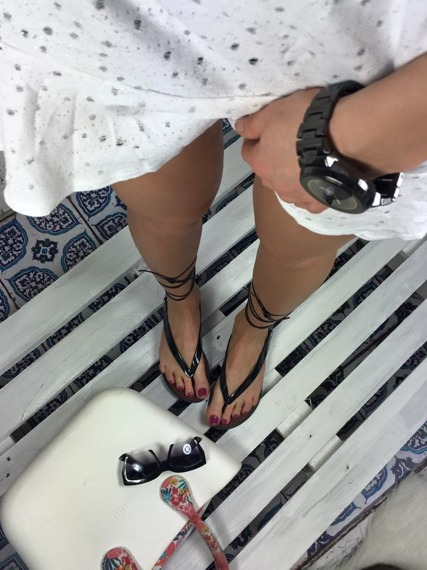 Black Lace Up Gladiator Sandals