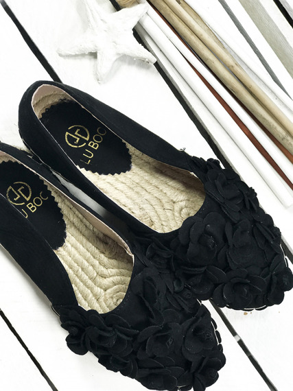 Black Espadrilles Flaxy