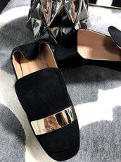 Lu Boo Black loafer with badge Molly